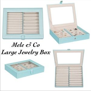Mele & Co. Camellia Glass Top Fashion Ring Case